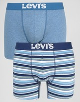 Levis Multi Stripe Boxer Brief In 2 Pack Blue