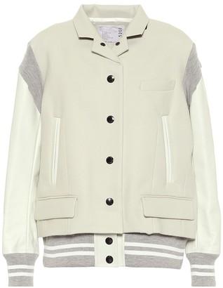 Sacai Brushed wool jacket