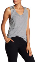Pierre Balmain Stripe Button Shoulder Tank