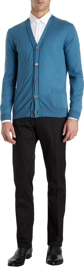 Lanvin Button Cardigan
