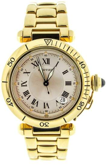 Cartier Yellow Gold Pasha Mens Watch