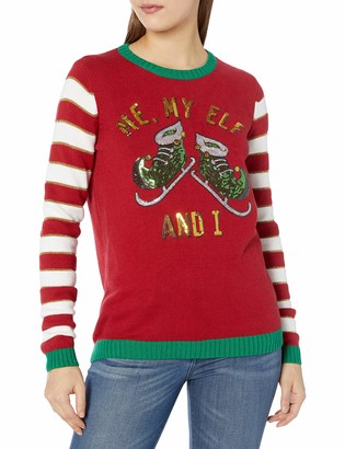 Ugly Christmas Sweater Junior's Me My Elf and I Sweater