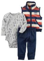 Carter's 3-Piece Vest, Bodysuit, and Pant Set in Navy/Cream