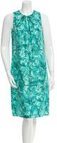 Peter Som Silk Abstract Print Dress w/ Tags