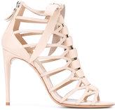 Casadei lattice stiletto sandals - women - Calf Leather/Leather - 36