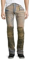 Robin's Jeans Motard Dirty-Bottom Denim Jeans, Brown