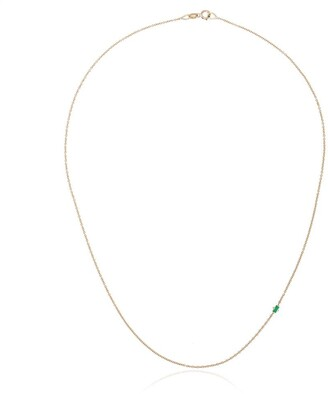 Lizzie Mandler Fine Jewelry 14kt Yellow Gold Floating Emerald Necklace