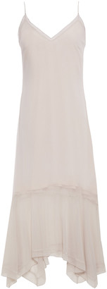 Charli Asymmetric Georgette Midi Dress