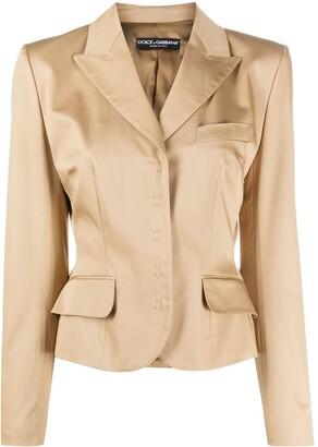 Dolce & Gabbana Cropped Concealed Fastening Blazer