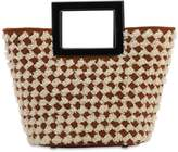 Riviera Marina Raphael MINI WOVEN SHEARLING HANDLE BAG