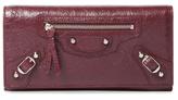 Balenciaga Classic Leather Continental Wallet