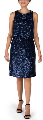 Donna Ricco Sequin Sheath Dress