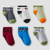Cat & Jack Boys' Low Cut Train Icon Socks 6pk Cat & Jack - Heather Grey