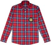 Balmain Check Long Sleeve Shirt