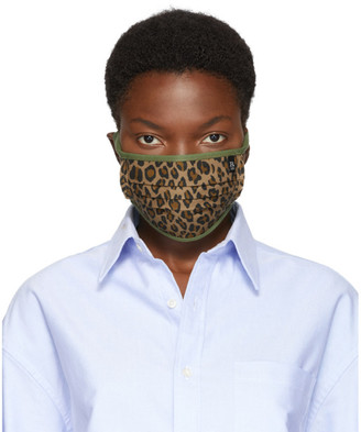 R 13 Tan and Green Surplus Leopard Mask