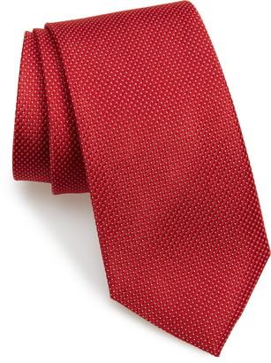 Nordstrom Hailey Micro Texture Silk X-Long Tie