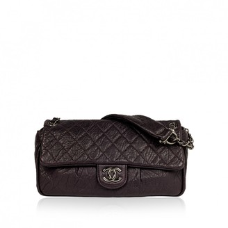 Chanel Purple Leather Handbags