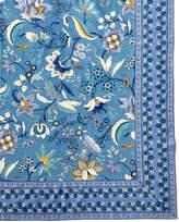 "Handprint Kerala Sapphire Tablecloth, 60""Sq."