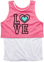 JCPenney Okie Dokie Layered Tank Top and Mesh Crop Top - Preschool Girls 4-6x