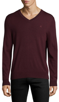 Brooks Brothers Solid V-Neck Merino Wool Sweater