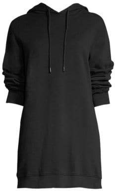 Cotton Citizen Women's Milan Open-Back Sweatshirt Cotton Dress - Light Grey - Size Large