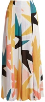 Mara Hoffman Superstar-print crinkled-crepe trousers