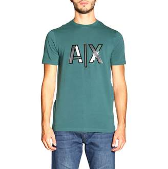 Armani Exchange T-shirt Short-sleeved T-shirt With Maxi Logo