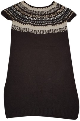 Marella Brown Wool Dress for Women