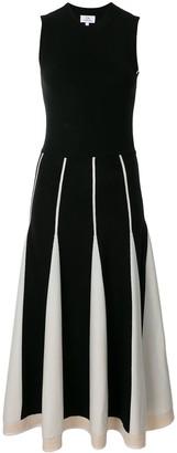 CK Calvin Klein contrast panel knit dress