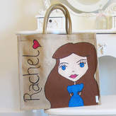 Hurley Sarah Hand Painted And Personalised Dollybelles Tote Bag