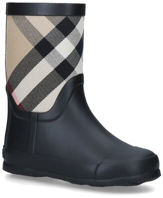 Burberry Kids Check Wellington Boots