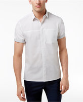 INC International Concepts Men's Stylized Hidden-Placket Shirt, Created for Macy's