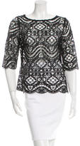 Miguelina Sheer Crocheted Top