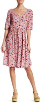 Love Moschino Scoop Neck Floral Dress