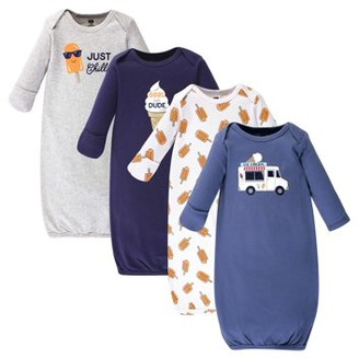 Hudson Baby Gowns, 4pk (Baby Boys or Girls Unisex)