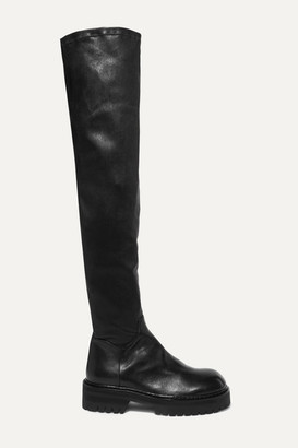 Ann Demeulemeester Over-the-knee Leather Boots - Black