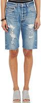 RE/DONE Women's Distressed Denim Walking Shorts