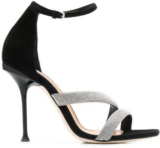 Sergio Rossi Embellished High Heel Sandals