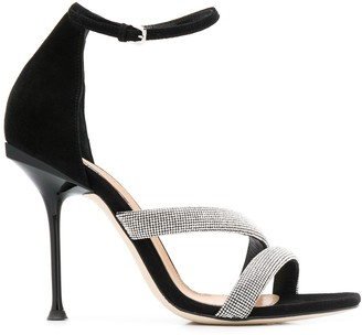 Sergio Rossi embellished high heel sandals