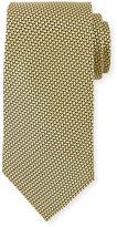 Ermenegildo Zegna Basketweave Silk Tie, Yellow