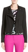 Armani Collezioni Women's Armani Jeans Crepe Moto Jacket
