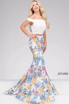 Jovani Off the Shoulder Two-Piece Mermaid Prom Dress 42800
