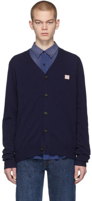 Acne Studios Navy Patch Cardigan