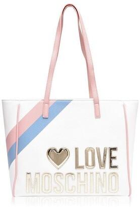 Love Moschino Love Gold Heart Tote Bag