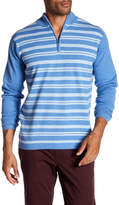 Peter Millar Rockwell Quarted Zip Stripe Sweater