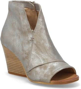 Miz Mooz High Wedge Leather Open Toe Sandals -Kimball