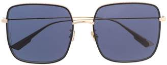 Christian Dior embellished-trim square sunglasses