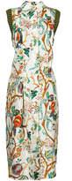 Alberta Ferretti floral print midi dress