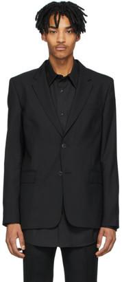 Ami Alexandre Mattiussi Black Two-Button Blazer