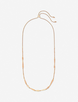 Kendra Scott Ava 14ct rose gold-plated geometric necklace